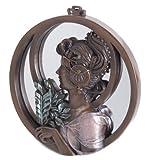 Art Nouveau - Espejo decorativo de pared con hojas de bronce