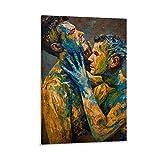 YJTY Fusion Lovers Gay Art Poster Wandkunst für Wohnzimmer