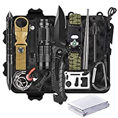 Unique Gift for Men: Whether Christmas holiday, dad birthday Father's Day or anniversary, the campact survival kit is cool unique gifts idea for men, dad or husband. A nice gift for man or boys who interested in adventure or family who is prepping fo...