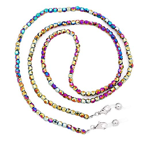 KAI Top Glass Bead Eyeglass Chains for Women,Colorful Eyelasses Chain Holder