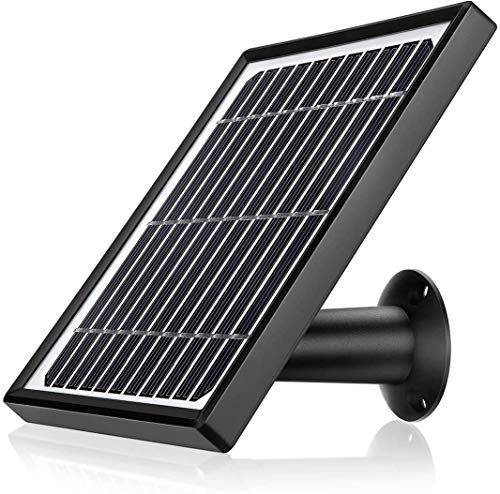 Ctronics Solarpanel-Netzteil für wiederaufladbare Überwachungskamera Drahtlose batteriebetriebene wasserdichte IP66-Kamera