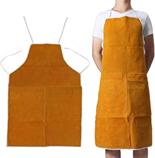 Cow Leather Aprons Welding Heat Insulation Protection Welders Blacksmith 60 * 90 cm High Temperature Apron Anti-scalding Apron