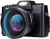 Videocámara Cámara de Video Cámara 4K Vlogging Cámara para YouTube 4 8MP Video grabadora de videocámara 180 grados rotación 3.0 pulgadas LCD Pantalla 16x Zoom digital Cámaras digitales de lentes inter