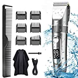 Professional Hair Clippers for Men Kids, Professional Hair Trimmer Set Cordless Rechargeable Led