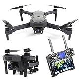 BaiTTang Drone GPS con cámara de Zoom 4K UHD 50X, 5G WiFi FPV Video UAV con Motor sin escobillas, Distancia RC 1800m, batería Dual, Mejor Regalo para Adultos y niños
