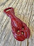 Rustic Lobster Handheld Bottle Opener – Unique Men's Stocking Stuffer – Cajun Crawfish Barware – Man Cave Novelty Gift