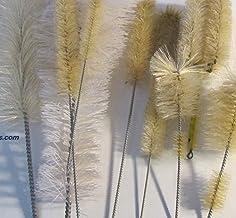 """Set of 10 Wire Brush for Glass Test Tube Cylinder Flask Beaker, Length 5-13"""", Brush Diameter 1/2""""-4"""""""