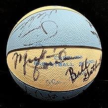 Michael Jordan 1983-1984 North Carolina Team Signed Basketball. PSA