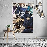 Dominic Art 呪術廻戦 壁掛け タペストリー 壁飾り モダンなアート ポスター 100x150cm