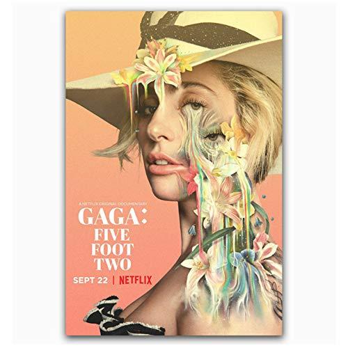 XZRDP Lady Gaga Five Foot Two 2017 Netflix Documenta Kunst Poster und Drucke Leinwand Malerei Wohnzimmer Wohnkultur -20x30 IN No Frame