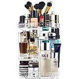 PuTwo Organizador Maquillaje Giratorio, Organizador Maquillaje Giratorio 360 Para Tocador, Vitrinas Cosméticos, Organizadores Maquillaje y Almacenamiento para Pincel de Maquillaje, Lápices Labiales