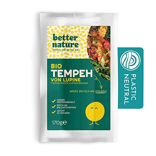 Better Nature vegane 100% BIO Fleischalternative aus Tempeh von Lupinenbohnen – 5x 170g Packungen leckere pflanzliche alternative zu Fleisch mit vielen Proteinen und Ballaststoffen