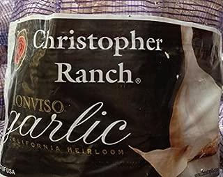 Fresh California Grown Garlic USA California Heirloom Monviso Gilroy Finest Garlic - 3 Bags of 2 Pounds Total of 6 Lbs
