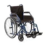 Sedia a rotelle pieghevole - Carrozzina disabili ad autospinta (43 cm)