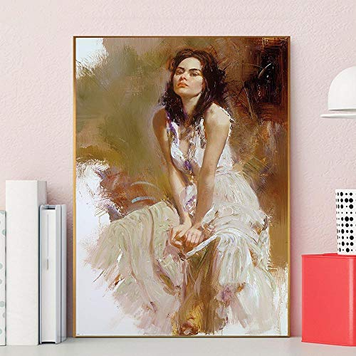 wZUN Woman Poster Printing Mural Canvas Painting Bedroom Decoration Picture Beauty Girl Art Printing 60x90cm Frameless