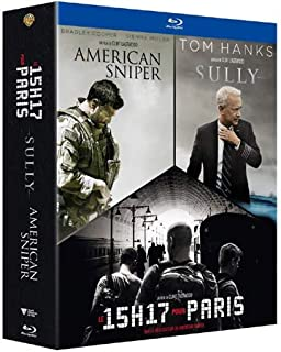 3 Films by Clint Eastwood ( American Sniper / Sully / The 15:17 to Paris ) [ Blu-Ray, Reg.A/B/C Import - France ]