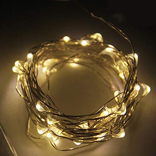 BAGZY LED Cadena de Luces 2M 20 LED Guirnaldas luminosas Alambre de Cobre Impermeable Decorativas con Caja de Batería para Interior Exterior Navidad Patio Fiestas Boda Jardín 6 Piezas