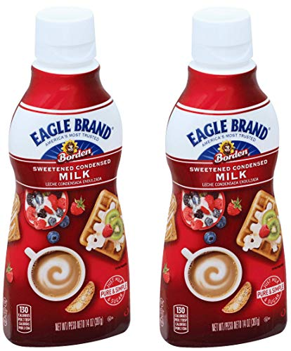 Eagle Brand Sweetened Condensed Milk Squeeze Bottle, 14 oz (2)