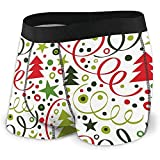 Men 's Boxer Briefs Patrón Simple y Brillante con serpentinas y Confeti, Fondo...