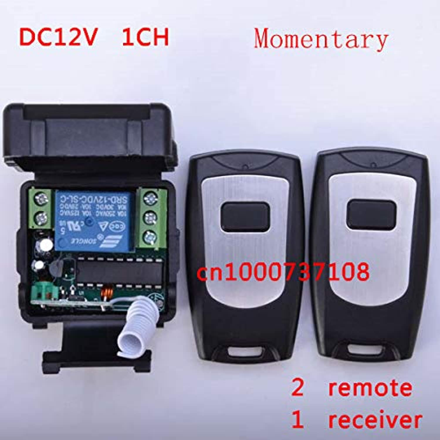 Smart Home Power Switch 12V 1ch rf Wireless Remote Control Switch System 2 Transmitter & Receiver 315 433MHZ