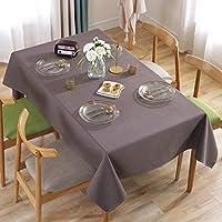 テーブルクロス ポリエステル綿のソリッドカラーのホテルのレストランのリビングルームの近代的なミニマリストのコーヒーテーブルのテーブルクロス (Color : Coffee, Size : 120*160CM)