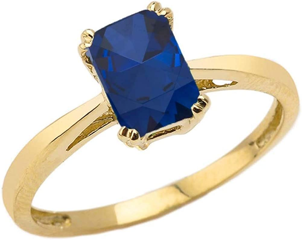 Fine 10k Yellow Gold New color 1 Many popular brands ct Cut September Emerald Birthstone State
