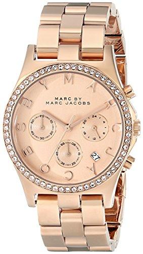 Marc Jacobs MBM3118 dameshorloge met roestvrij stalen armband, goud/grijs