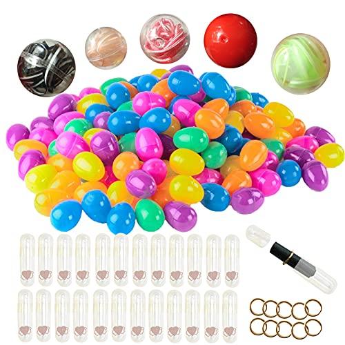 54個誕生日のプラスチックのおもちゃの神秘的なブラインドボックスの卵 イースターエッグ プラスチック 開閉しやすい たまごカプセル 6色アソート タイムカプセル , パーティーキッズギフト、バースデーギフト(C)