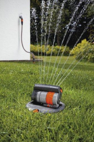 GARDENA Sprinklersystem Komplett-Set mit Versenk-Viereckregner OS 140: Bewässerungssystem für quadratische und rechteckige Flächen bis max 140 m², ebenerdig montiert (8221-20) - 3