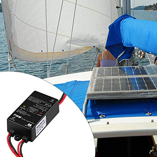 HOLEBAY-EU Solarladeregler, wasserdicht, 5 A, Solarmodul, IP67, wasserdicht, Solar-Controller für Blei-Säure-Batterie, Laden und Entladungskontrolle, bunt