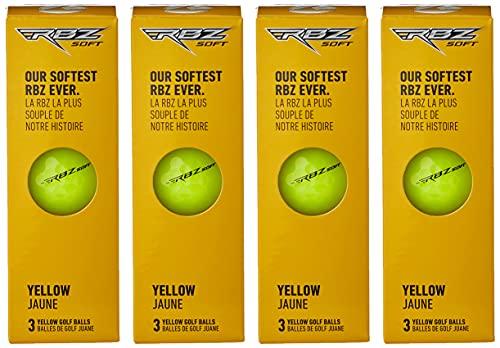 TaylorMade Rbz Soft Golfball, Unisex, M7163901, gelb, One Dozen