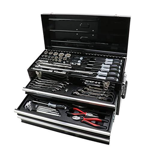 SK11 整備工具セット 差込各12.7&6.35sq SST-19117BK ブラック 117点組 1セット
