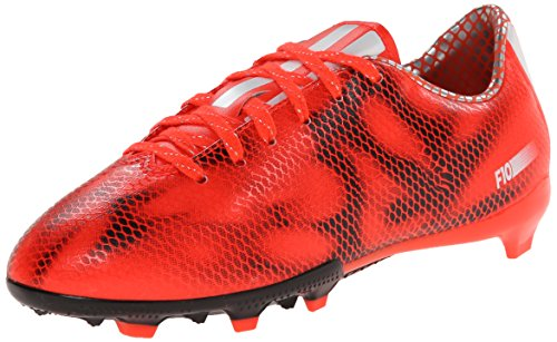 adidas Performance F10 Firm-Ground J Soccer Cleat (Little Kid/Big Kid), Solar Red/Running White/Black, 4.5 M US Big Kid