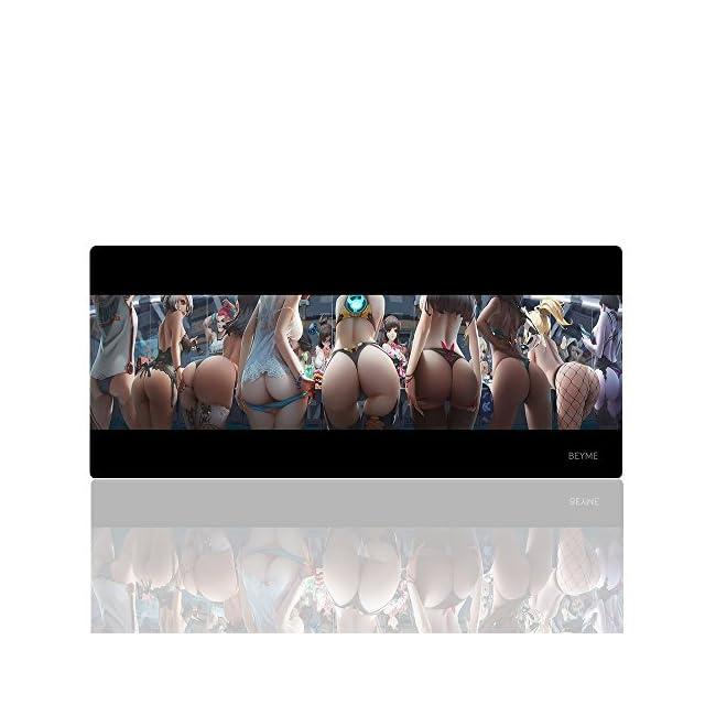 Beyme Gaming-Mauspad, Größe XXL (900 x 400 mm), erweitertes Mauspad/Schreibtischunterlage mit ruts