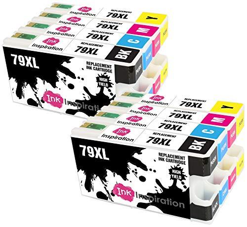 INK INSPIRATION® Ersatz für Epson 79 79XL Druckerpatronen 8er-Pack, kompatibel mit Epson Workforce Pro WF-5620DWF WF-4630DWF WF-4640DTWF WF-5190DW WF-5690DWF WF-5110DW, Schwarz/Cyan/Magenta/Gelb