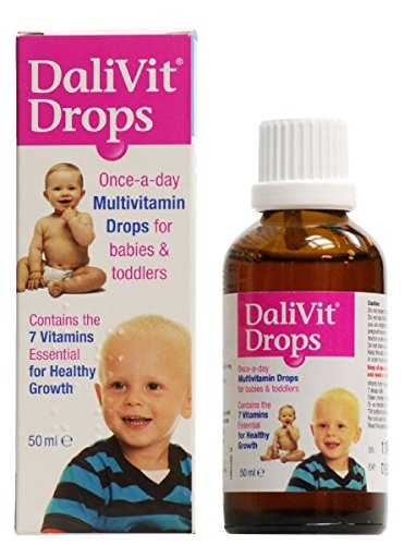 DaliVit Drops   Multivitamin Drops Contain 7 Essential Vitamins for Healthy Growth and Development   Specially Formulated for Infants and Children   Peanut/Nut and SOYA Free   50ml
