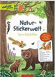 Natur-Stickerwelt: Tiere in Wald und Wiese: Mit 44 Steckbriefen und über 140 Stickern (Nature Zoom)