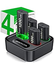 Charger for Xbox One Controller Battery Pack, with 4 x 1200mAh Rechargeable Xbox One Battery Charger Charging Kit for Xbox One Xbox Series X S, Xbox One X/Xbox One S/Xbox One Elite Controllers photo