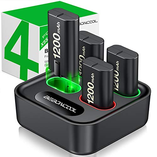 【36% OFF】 - Charger for Xbox One Controller Battery Pack, with 4 x 1200mAh Rechargeable Xbox One Battery Charger Charging Kit for Xbox One Xbox Series X S, Xbox One X/Xbox One S/Xbox One Elite Controllers
