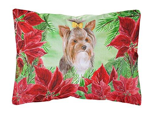 Caroline's Treasures CK1370PW1216 Yorkshire Terrier #2 Outdoor-Kissen, Segeltuch, Weihnachtsstern
