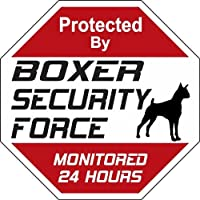 BOXER SECURITY FORCE サインボード:ボクサー 24時間監視中 セキュリティ看板 [並行輸入品]