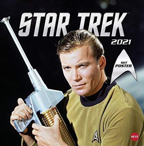 Star Trek Broschurkalender 2021 - mit Poster - Wandkalender mit Monatskalendarium und Platz für Eintragungen - Format 29,5 x 30 cm (29,5 x 60 cm geöffnet)