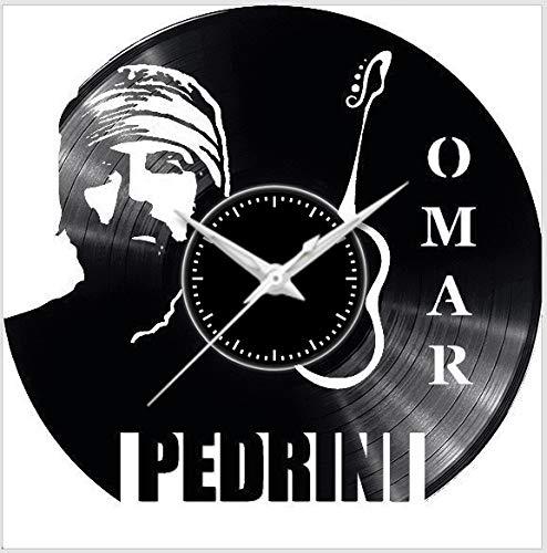 Fusorario Disco Orologio in Vinile da Parete LP 33 Giri Silenzioso Idea Regalo Omar Pedrini