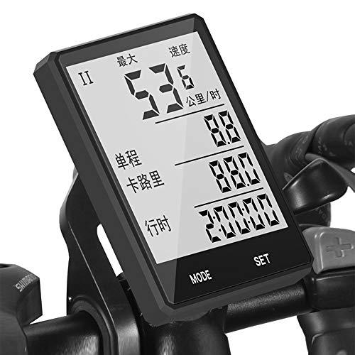 Cuentakilometros Bici Inalambrico Resistente Al Agua para Bicicleta con Pantalla LCD Retroiluminada...