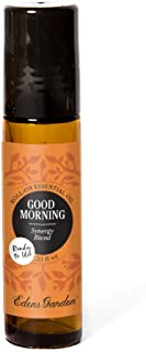 Edens Garden Good Morning Essential Oil Synergy Blend, 100% Pure Therapeutic Grade (Pre-Diluted & Ready To Use- Energy & Stress), 10 ml Roll-On
