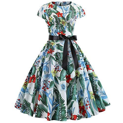 K-youth Años 50 Hepburn Vintage Swing Vestidos De Fiesta Mujer Elegantes Vestido para Mujer Sexy Casual Vestidos de...