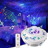 LED Stella Proiettore Lampada, Delicacy Nebulosa Notturne Luci, Fai-da-te Adesivo + Stellare Proiezione, Bluetooth e Timer e Telecomando, Gioco Home Cinema Decorazione Bambini Compleanno Regalo