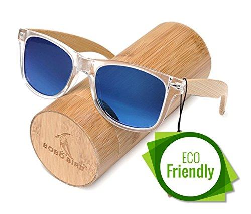 BOBO BIRD Handmade Polarized Sunglasses Women And Men With Colorful Lens Transparent Plastic Frame...