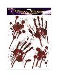Halloween Saignant Mains Autocollants Fenêtre - saignant designs EMPREINTES DE MAINS avec éclaboussure de sang