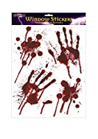 ハロウィンBloody Hands Window Stickers-Bloody Designs Hand Prints with Blood Splatter